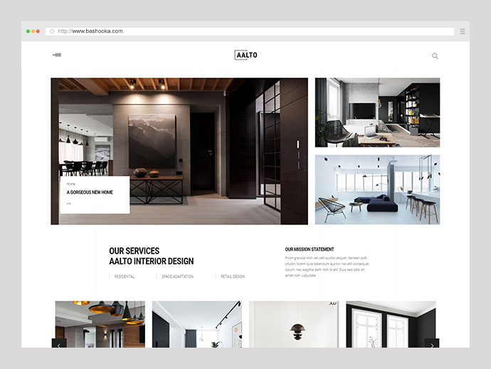 Aalto - Refined Architecture and Interior Design Theme