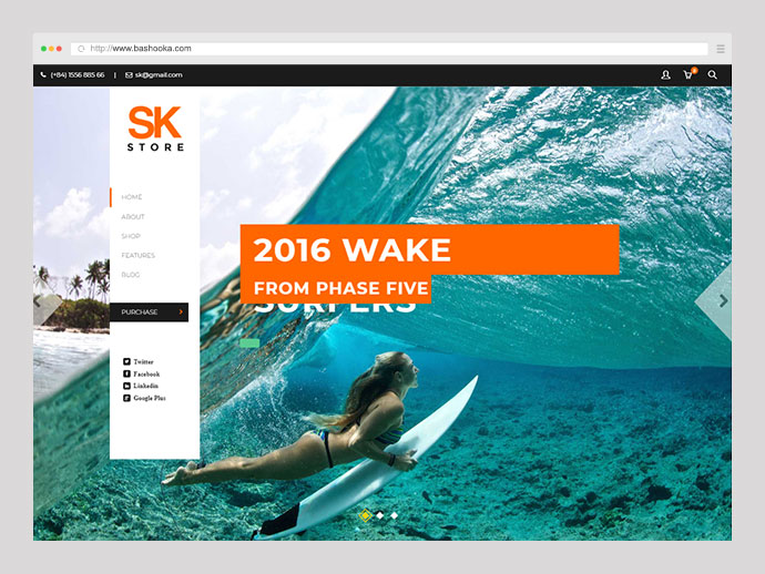 SK Store - Responsive Store WP theme for Sport and Athletes