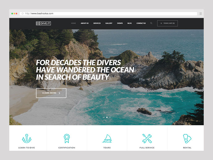DiveIt - Scuba Diving School WordPress Theme