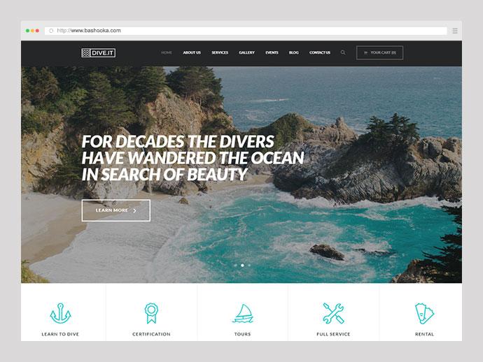 DiveIt - Scuba Diving School WordPress Theme