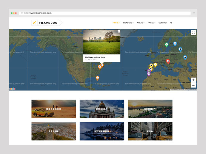 Travelog - WordPress Theme For Travelers