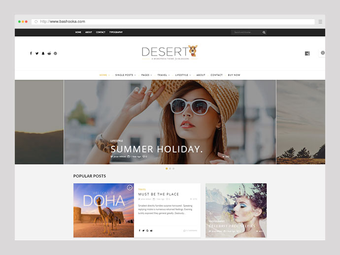 Desert - WordPress Travel Blog Theme