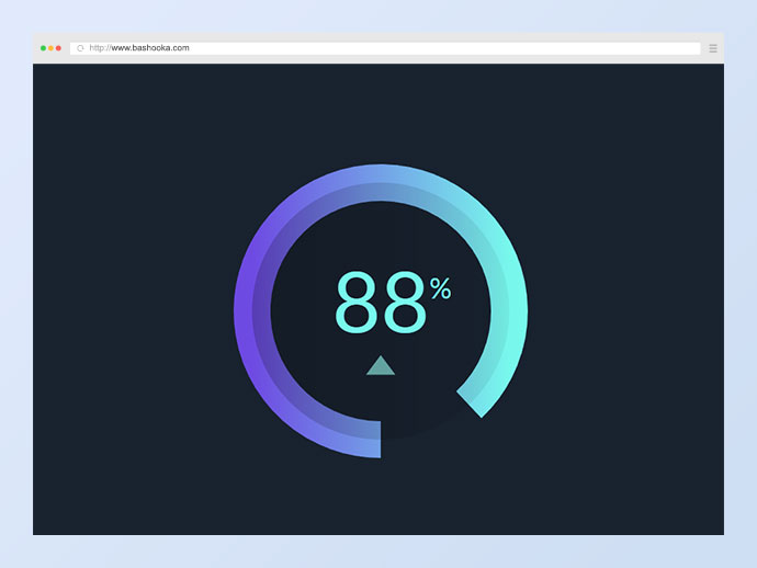 Donut Chart Dial SVG Animation