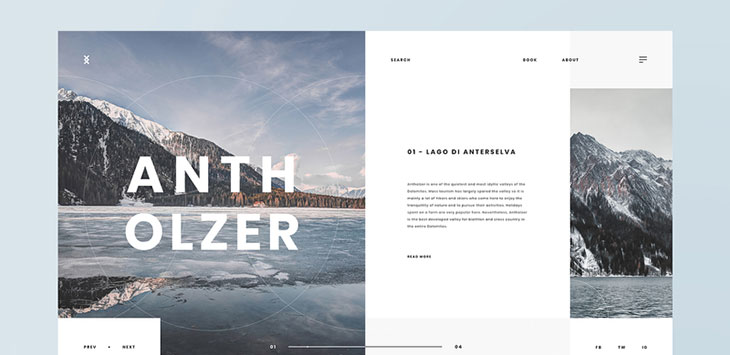 40 Best Photography Web UI Design Examples