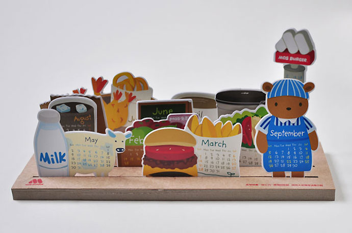 Mos burger Calendar 2010
