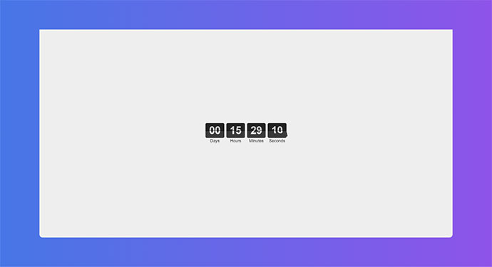 Flip clock & countdown, Vue
