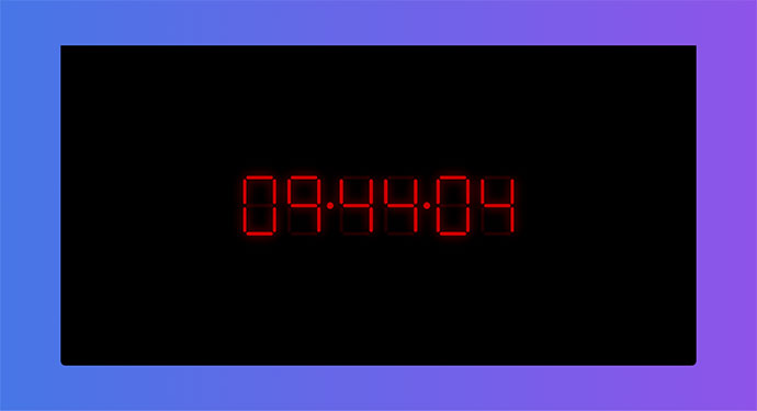 Animated Digital LED Clock