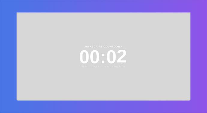 40 CSS & Javascript Animated Countdown Timer Examples – Bashooka