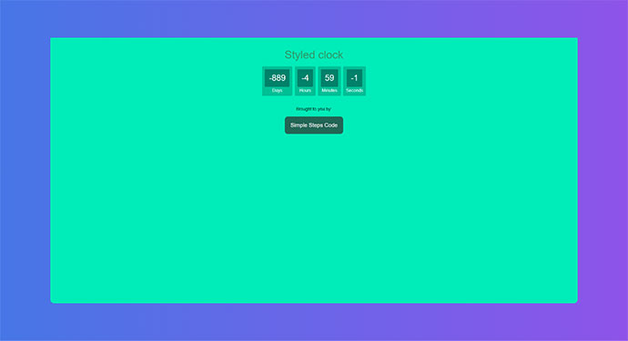 Styled JavaScript Countdown Clock