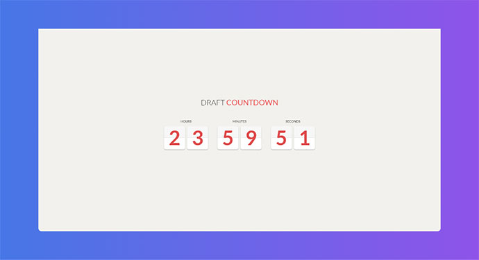 Draft Countdown