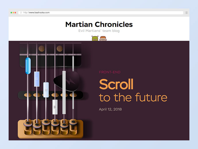 Scroll to the future