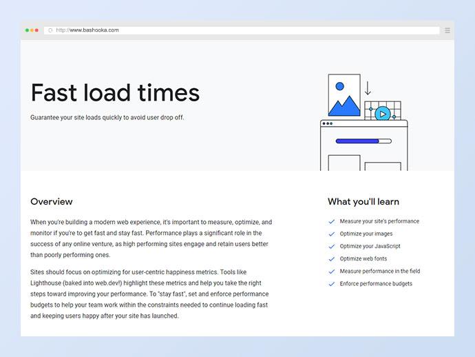 Fast load times