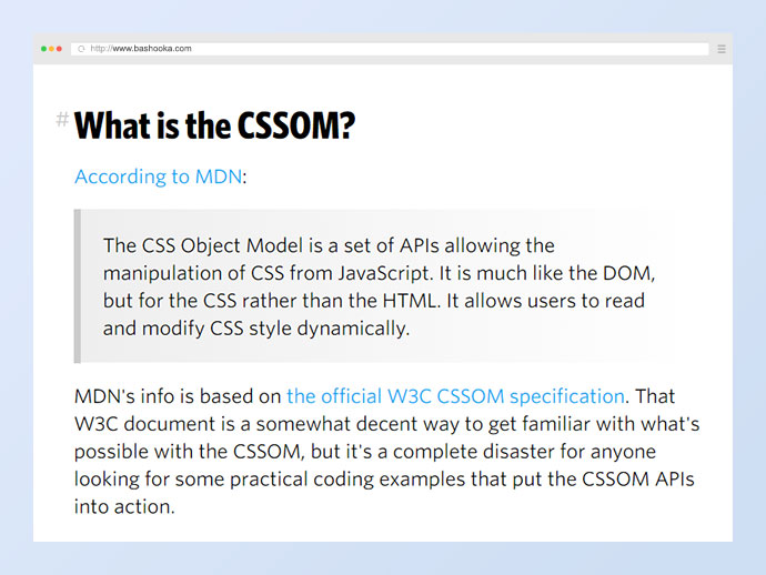 An Introduction and Guide to the CSS Object Model