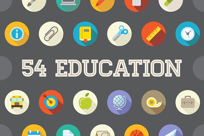 54 Education Flat Vector