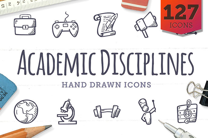 Academic Disciplines Education Icons