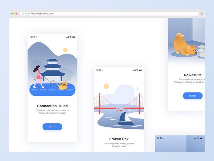 Free Error Illustration Screens