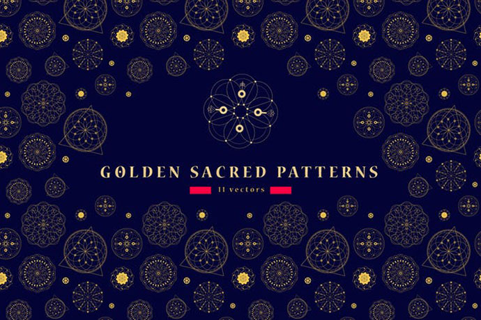 11 Sacred seamless patterns