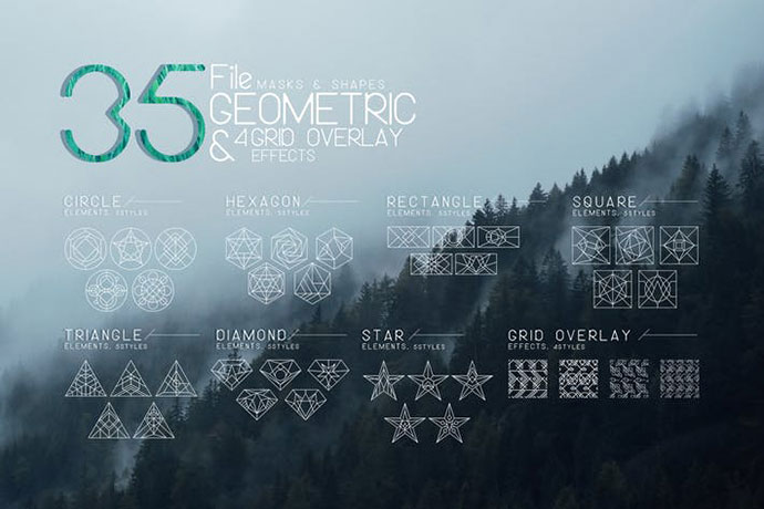 Vector Geometric Mask & Shapes Vol4