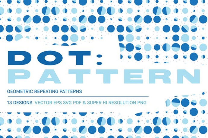 Dot 13 Seamless Vector Patterns