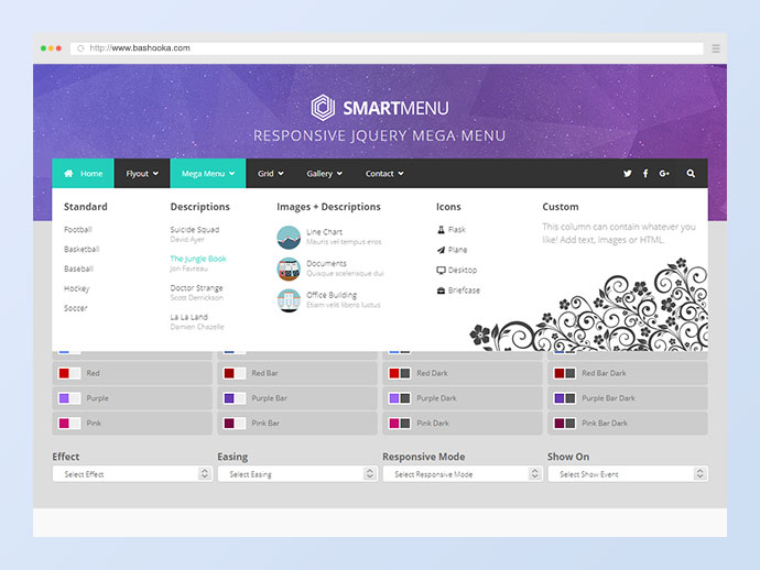 SmartMenu - Responsive jQuery Mega Menu