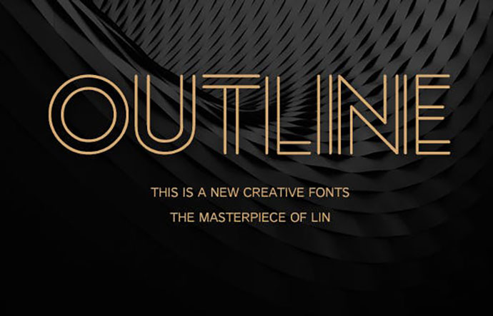 Outline-Creative font