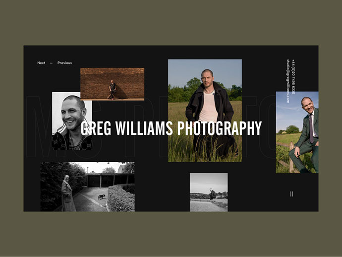 Greg Williams Photographer Personal Website