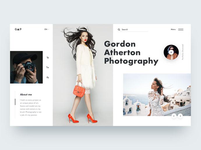 Photographer Portfolio Concept