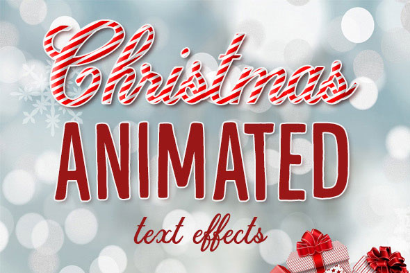 Christmas Animated Text Effects