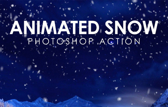 Animated Snow Photoshop Action