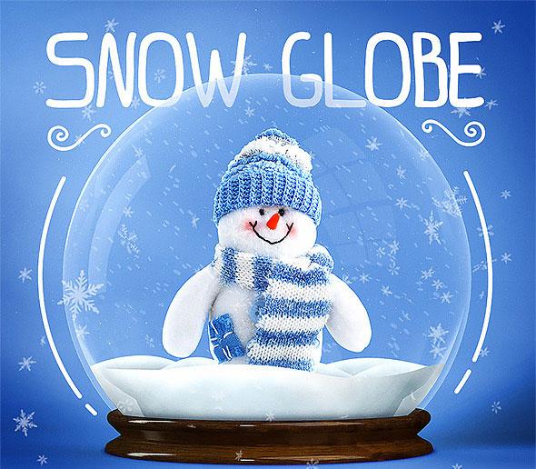 Snow Globe + Animated Snow