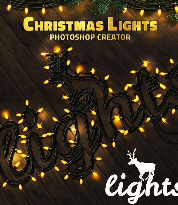 Christmas Lights Photoshop Creator