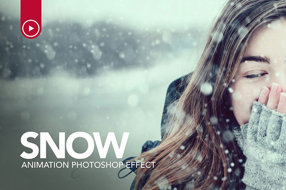 Snow Animation Photoshop Action