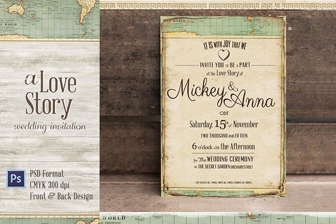 Journey Wedding Invitation