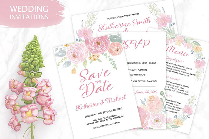 Tender Wedding Invitation Templates