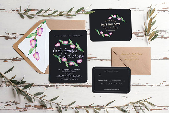 Tulip Wedding Invitation Suite