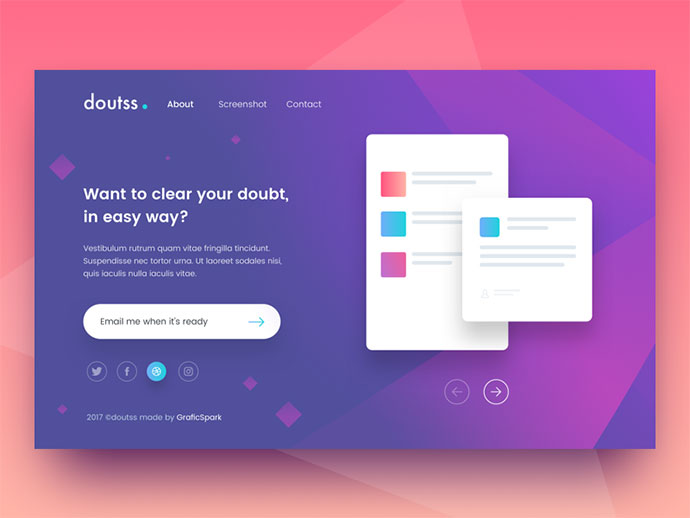 Doutss Landing Page - Freebies Day #7