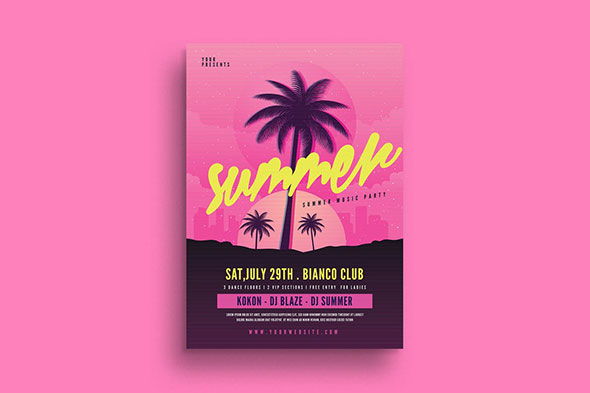 End of Summer Party Flyer