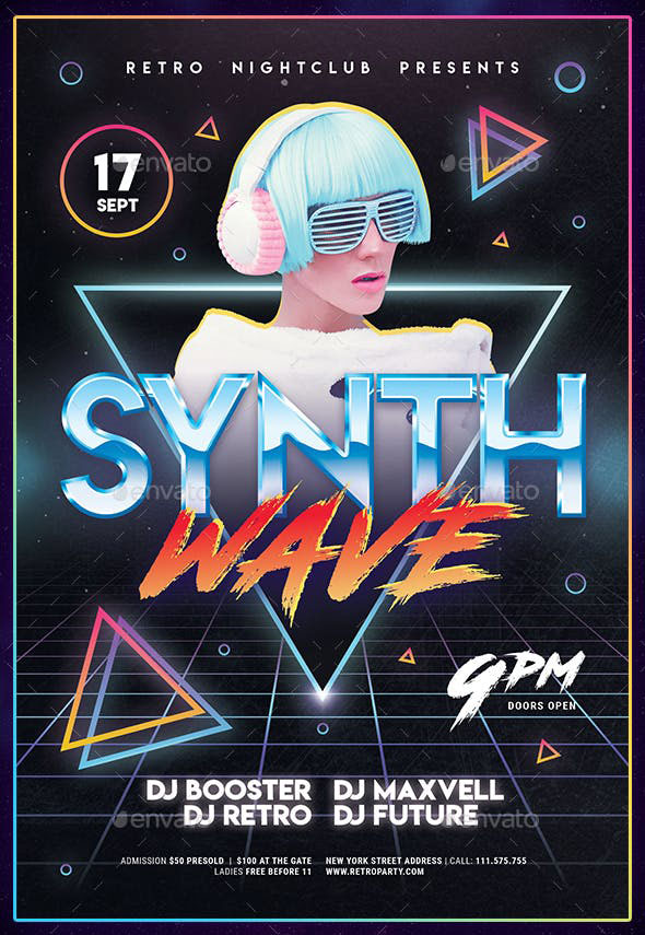 80's Synthwave Flyer