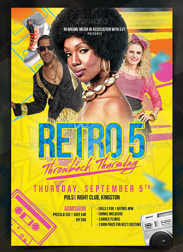 80's Throwback Party Flyer