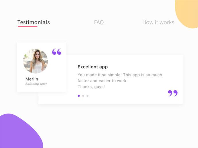 App user Testimonial