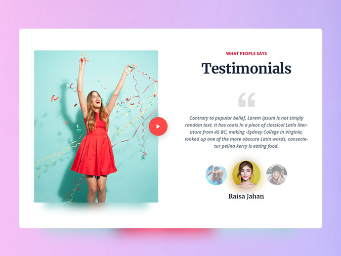 Testimonials UI Daily #008 - Day 07