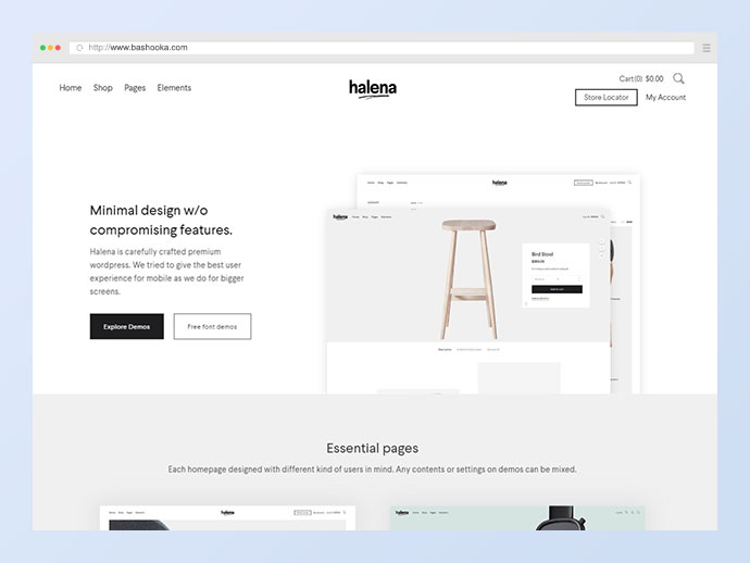Halena | Minimal & Modern eCommerce WordPress Theme