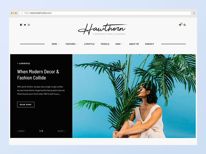 Hawthorn - A WordPress Blog & Shop Theme