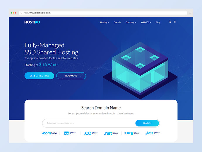 Hostiko WordPress WHMCS Hosting Theme
