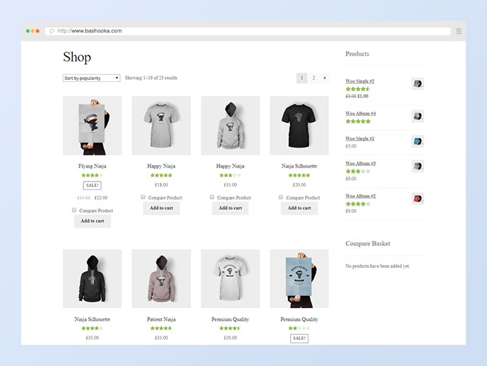 Compare Products with WooCommerce