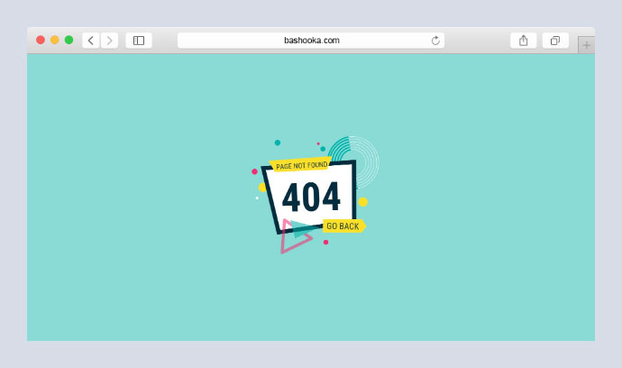 Animated 404 Page - Workshop