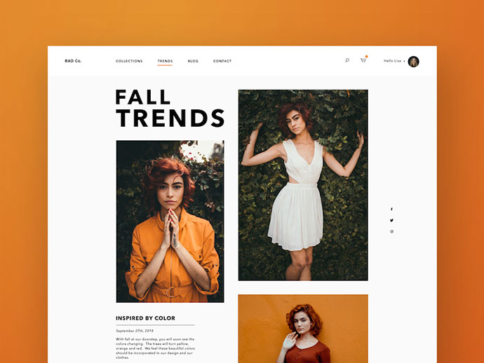 Women's Fall Fashion  - Web Version