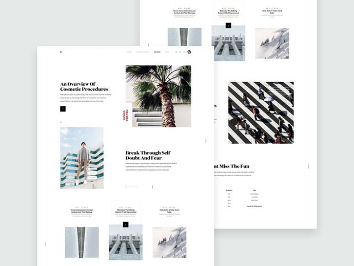 ZX Lifestyle - Magazine / Blog Webpage Concept