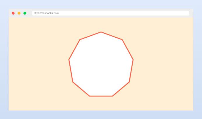 CSS clip-path border