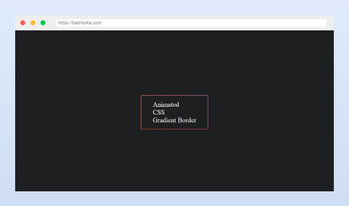 Animated CSS Gradient Border